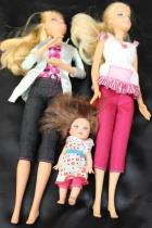Lot of 8 Fully Clothed Barbie Dolls & 1 Clothed Ken Doll 2 Small Dolls
