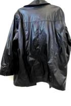 Womens Leather Jacket By White Stag Faded Black Leather Button Down Size XL 16W