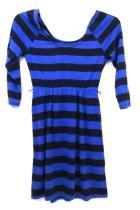 Dress by Xhilaration Black & Blue Striped Womens Size XS