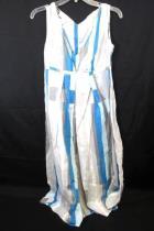 Sun Dress by Calvin Klein Blue, Gray & White Striped Womens Size 2