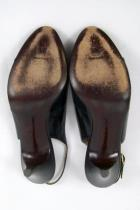 Bruno Magli Black Peep Toe Womens Heels Pumps Patent Leather Career Size 7