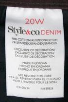Style & Co. Denim Womens Slim Leg Brown Jeans Size 20W