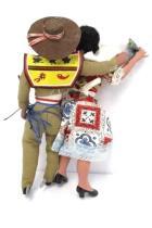 2 Vintage Mexican Theme Ethnic Dolls Figurines Man & Woman Senor y Senorita