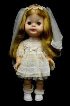 Original 11 Vogue Doll 1964 Bride First Communion Blonde Blue Eyes Orig Dress