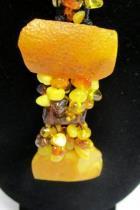 Baltic Amber Necklace Honey Butterscotch Cognac 18g Hand Knitted 22 105 pcs
