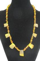 Baltic Amber Necklace Honey Mixed 14g graduated nugget 22 Authentic 99 pcs