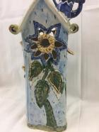 Blue Sky Clayworks Frog Prince Flower House Tealight Heather Goldminc 2000
