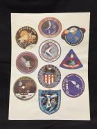 Nasa Apollo Flights 7-16 Decal Stickers WHOLE SHEET 1968-72