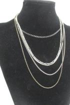 Lot of 6 Necklaces Varying Lengths Plus 4 Pendants Cross Locket Girl Walking