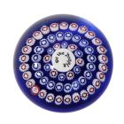 BACCARAT Millefiori Paperweight We The People 1987 B France Red White Blue