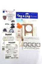 Scrapbooking Lot Stickers Die Cuts Stamps Paper Sports Baseball Basketball NEW