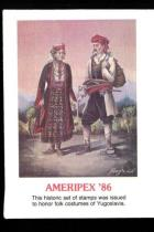 1986 Ameripex 86 FDC/FDI and Stamp Sheet Set of Yugoslavia Honor Folk Costumes