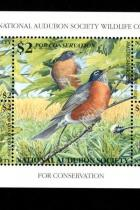 National Audubon Society Wildlife Conservation 12th Annual 1996 Stamp Sheet MNH