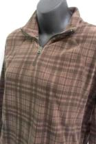 Womens Columbia Sportswear Brown Plaid Pull Over Cowl Neck Size Large