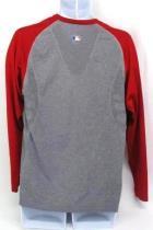 Mens Nike Performance Apparel Dri Fit Baseball Shirt Long sleeve Red Gray Sz L