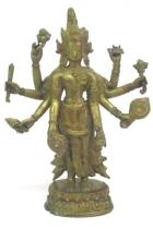 Ardhanarishvara Shiva Pavarti Goddess Idol Bronze Statue Figurine India Hindu