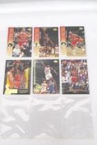 Lot of 15 Michael Jordan Trading Cards Sleeved Fleer Upper Deck NBA Hoops