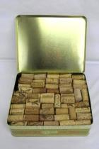 Large Lot Wine Corks Vintage Whitmans Chocolates Tin Collectors Craft Over 2lbs