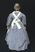 Vintage 17 Florence Nightingale Bisque China Doll Yield House w Metal Stand