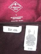 Lot of 2 Womens Career Tops Sweaters Burgundy Liz&Co St. Johns Size Large