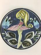 Tilamans Sweden Blonde Ponytail Girl Ceramic Plate