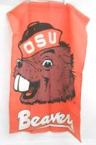 Lot of 4 Yard Decor Flags Wind Socks OSU Oregon State Beavers Orange & Black