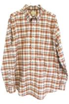 Mens Iron Free Button Up Plaid Camping Outdoor Shirt Sz XL Tall ~ST. JOHNS BAY