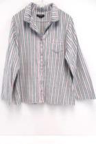 Earth Angels Pink Gray Stripe Micro Fleece Pajama Set Pants Top Womens Plus XXL