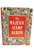 1967-68 Revised Ed. The Majestic Stamp Album 96 Pages Approx 150 Stamps Included