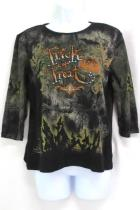 Womens Christopher & Banks Trick or Treat 3/4 Sleeve Top Size Medium