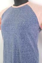 LuLa Roe Womens Shirt Randy Style Heather Blue Pink Sleeves Size Medium M