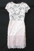 AMBIANCE Womens Light Pink Lace Dress Short Sleeve Size XL