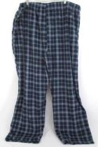 The Foundry Lounge Pants Sleepwear Soft Fleece Blue Plaid Size 4X Drawstring