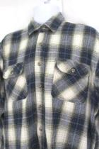 Field & Stream Mens Button Up Flannel Shirt Long Sleeve Blue Tan Size Large