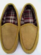Mountain Country Slip On Tan Loafers Leather Mens Size 8 Plaid Lining
