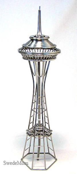 doodles destinations space needle wire sculpture