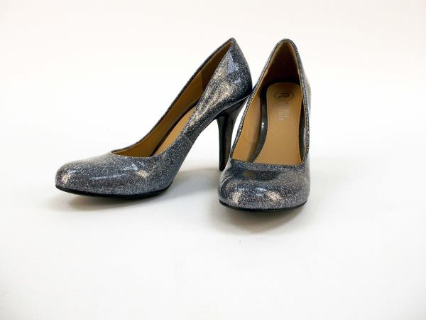 Mootsies Tootsies MOIDEAL Silver Glitter Heels Pumps Party Prom ...