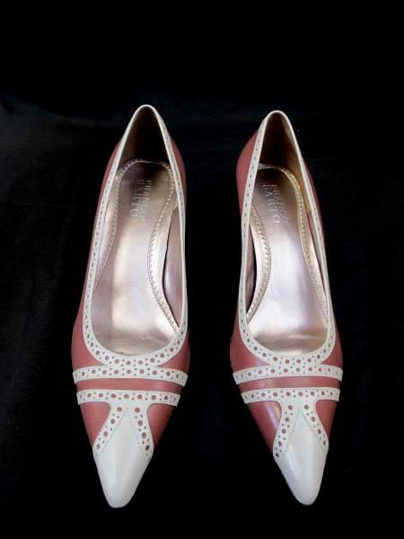 8704e6e1188 Details about FRANCO SARTO Women s Pink White Leather 2